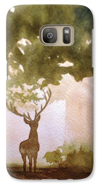 Galaxy Case featuring the painting Edge Of The Forrest by Marilyn Jacobson