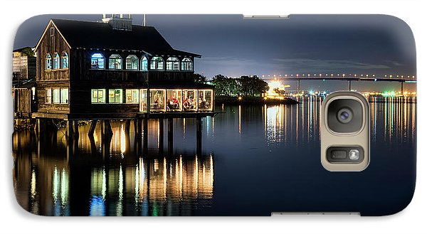 Galaxy Case featuring the photograph Edgewater Grill by Eddie Yerkish