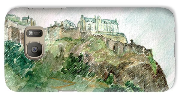 Galaxy Case featuring the painting Edinburgh Castle by Andrew Gillette