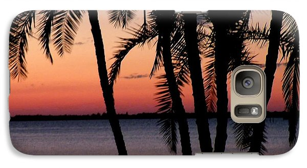 Galaxy Case featuring the photograph Edison Sunset by Rosalie Scanlon
