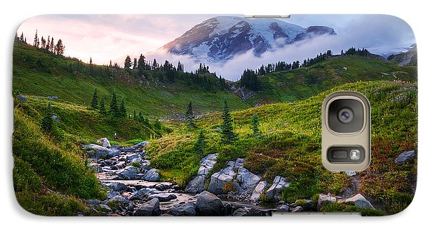 Galaxy Case featuring the photograph Edith Creek Sunset by Dan Mihai