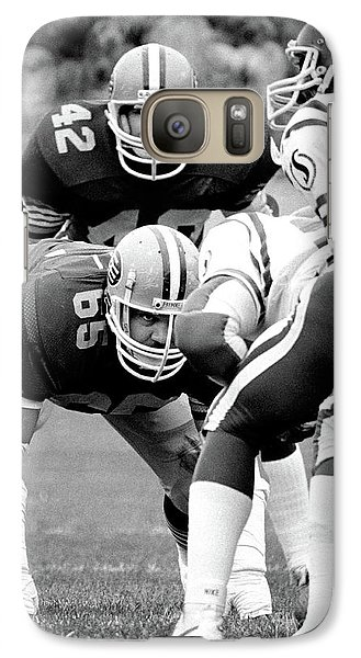 Galaxy Case featuring the photograph Edmonton Eskimos Football - Dave Fennell 1982 by Terry Elniski