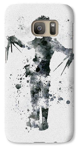 Edward Scissorhands Galaxy S7 Case by Rebecca Jenkins