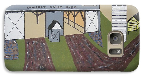 Galaxy Case featuring the painting Edwards Dairy Farm by Jeffrey Koss