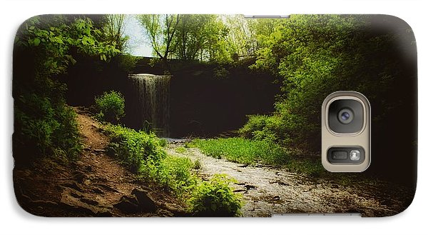 Galaxy Case featuring the photograph Eerie Path At Wequiock Falls by Mark David Zahn