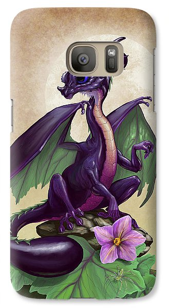Galaxy Case featuring the digital art Eggplant Dragon by Stanley Morrison