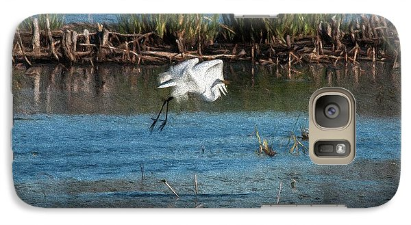 Galaxy Case featuring the photograph Egret 1 by Travis Burgess