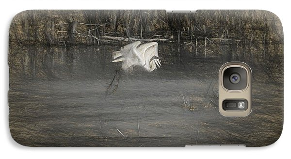 Galaxy Case featuring the photograph Egret 2 by Travis Burgess