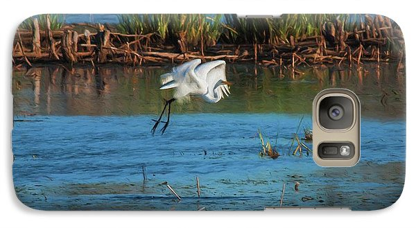 Galaxy Case featuring the photograph Egret 3 by Travis Burgess