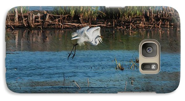 Galaxy Case featuring the photograph Egret 4 by Travis Burgess