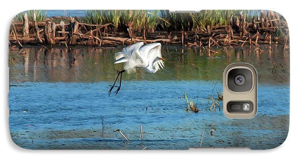 Galaxy Case featuring the photograph Egret 5 by Travis Burgess