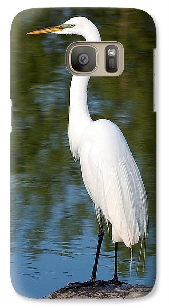Galaxy Case featuring the photograph Egret Standing by Kathleen Stephens