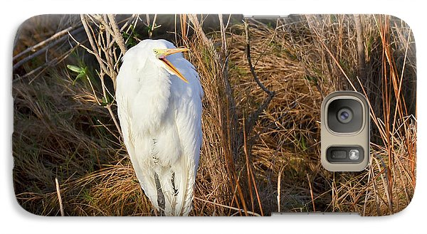 Galaxy Case featuring the photograph Egret With Something To Say by George Randy Bass