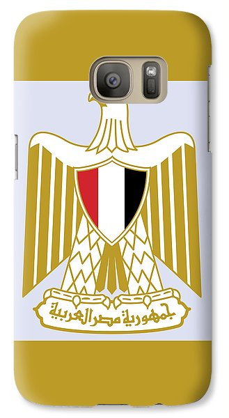 Galaxy Case featuring the drawing Egypt Coat Of Arms by Movie Poster Prints