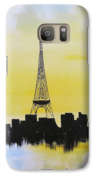 Galaxy Case featuring the painting Eiffel Of Paris by Gary Smith