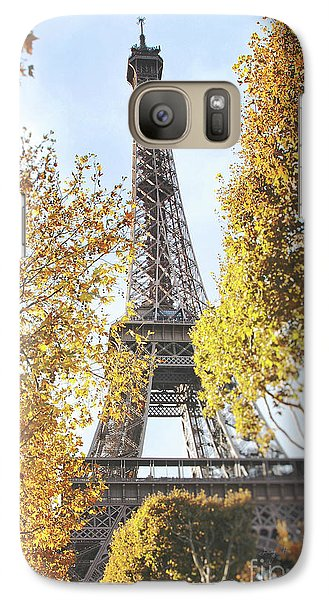 Galaxy Case featuring the photograph Eiffel Tower Amidst The Autumn Foliage by Ivy Ho