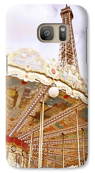 Galaxy Case featuring the photograph Eiffel Tower And Carousel by Ivy Ho