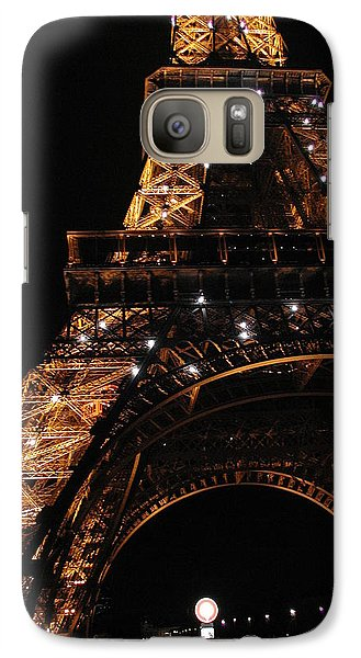 Galaxy Case featuring the photograph Eiffel Tower At Night by Nancy Taylor