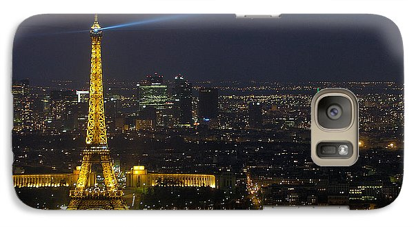 Eiffel Tower At Night Galaxy S7 Case by Sebastian Musial
