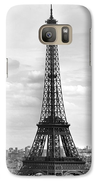 Eiffel Tower Black And White Galaxy S7 Case
