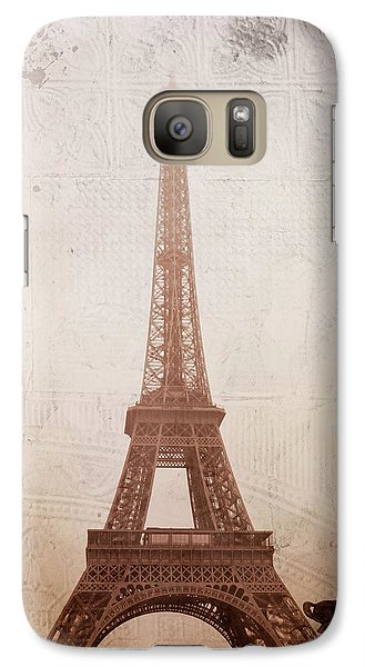 Galaxy Case featuring the digital art Eiffel Tower In The Mist by Christina Lihani