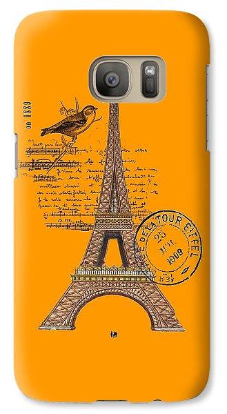 Eiffel Tower T Shirt Design Galaxy S7 Case