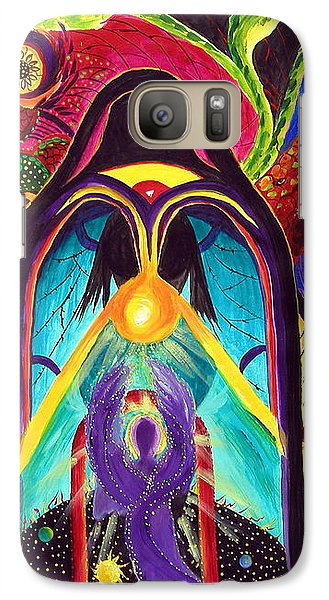 Galaxy Case featuring the painting Violet Angel by Marina Petro