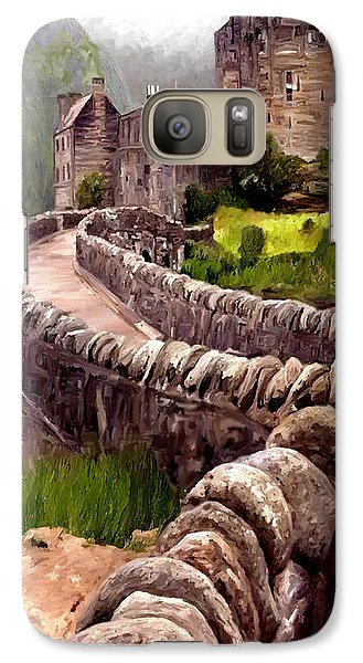 Galaxy Case featuring the painting Eilean Donan Castle by James Shepherd