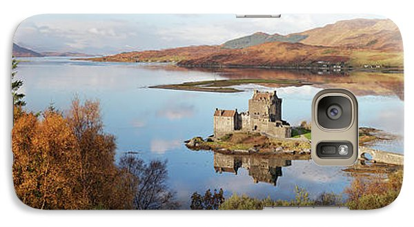 Galaxy Case featuring the photograph Eilean Donan Castle Panorama In Autumn by Grant Glendinning