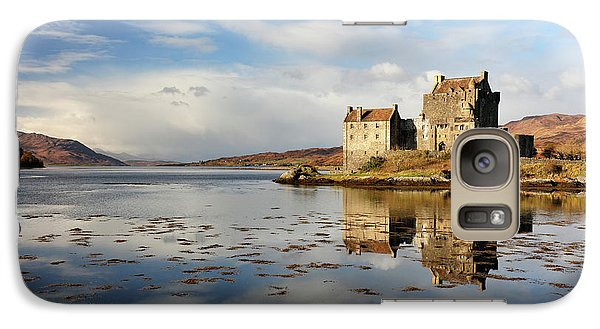 Galaxy Case featuring the photograph Eilean Donan - Loch Duich Reflection - Dornie by Grant Glendinning