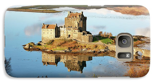 Galaxy Case featuring the photograph Eilean Donan - Loch Duich Reflection - Skye And Lochalsh by Grant Glendinning