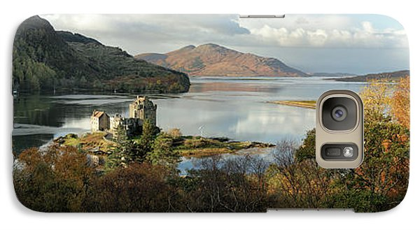 Galaxy Case featuring the photograph Eilean Donan Panorama - Autumn by Grant Glendinning