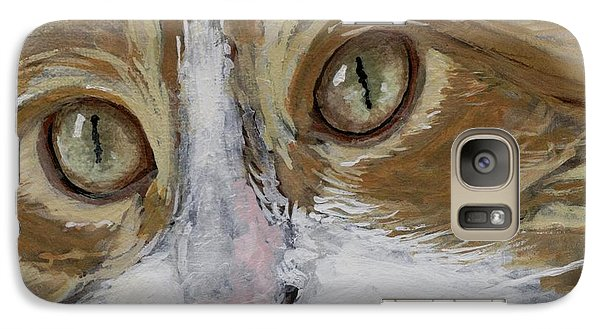 Galaxy Case featuring the painting Einstein by Mary-Lee Sanders