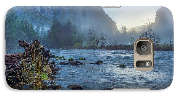 Galaxy Case featuring the photograph El Capitan Merced River Dawn by Scott McGuire