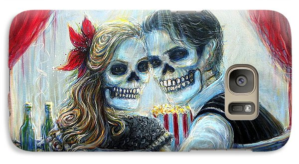Galaxy Case featuring the painting El Cine by Heather Calderon
