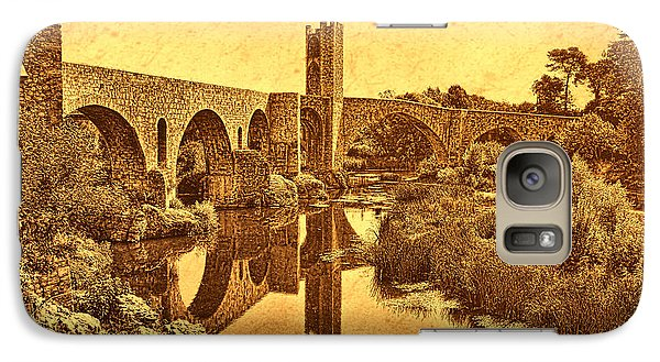Galaxy Case featuring the photograph El Pont Viel by Nigel Fletcher-Jones