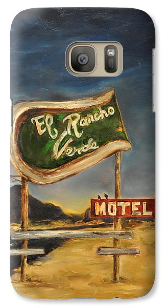 Galaxy Case featuring the painting El Rancho by Lindsay Frost