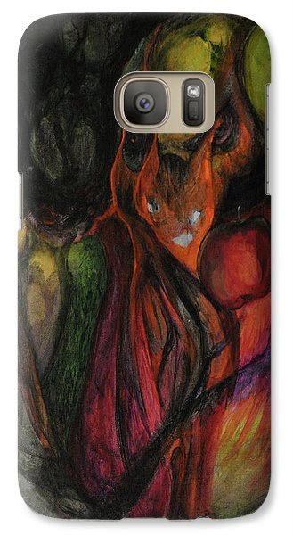 Galaxy Case featuring the painting Elder Keepers by Christophe Ennis