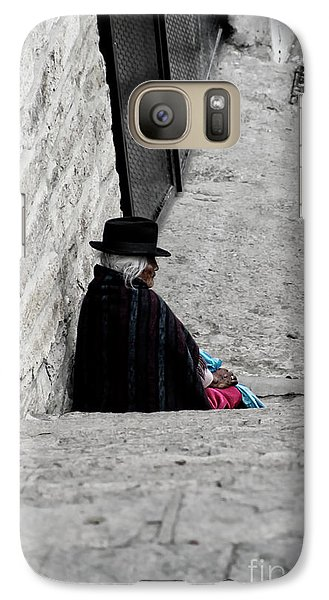 Galaxy Case featuring the photograph Elderly Beggar In Chordeleg by Al Bourassa