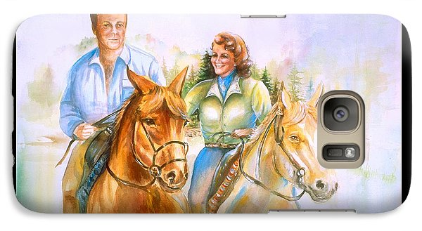 Galaxy Case featuring the painting Eleanor And George by Patricia Schneider Mitchell