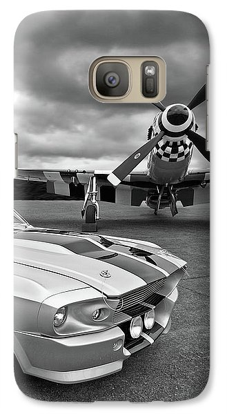 Eleanor Mustang With P51 Black And White Galaxy S7 Case