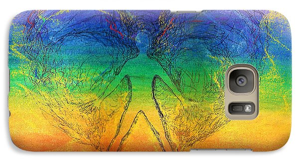 Galaxy Case featuring the mixed media Electric Angel by Denise Fulmer