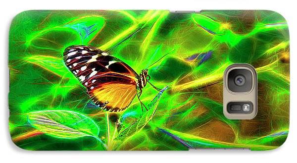 Galaxy Case featuring the digital art Electric Butterfly by James Steele