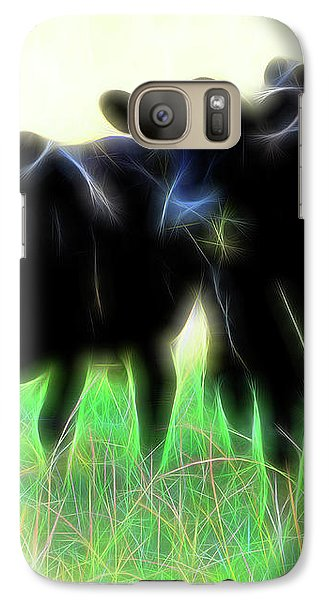 Galaxy Case featuring the photograph Electric Cows by Ann Powell