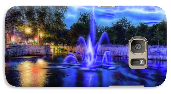 Galaxy Case featuring the photograph Electric Fountain  by Scott Carruthers