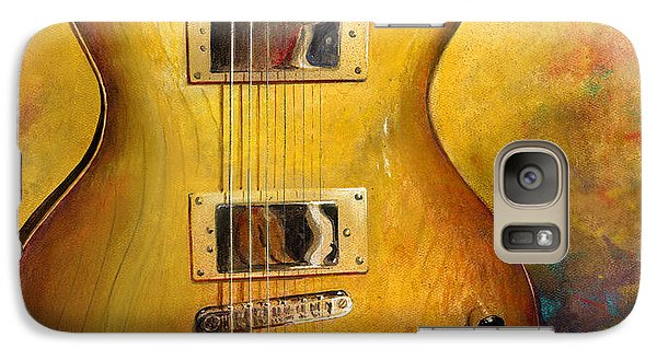Galaxy Case featuring the painting Electric Gold by Andrew King