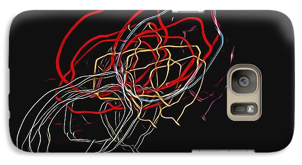 Galaxy Case featuring the photograph Electric Light by Steven Richardson
