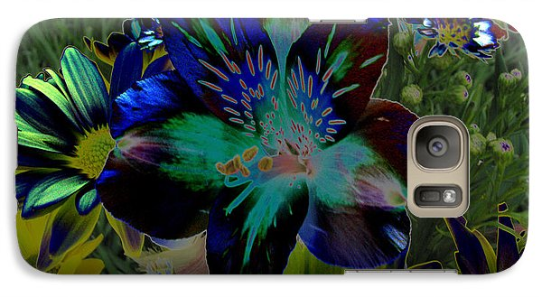 Galaxy Case featuring the photograph Electric Lily by Greg Patzer