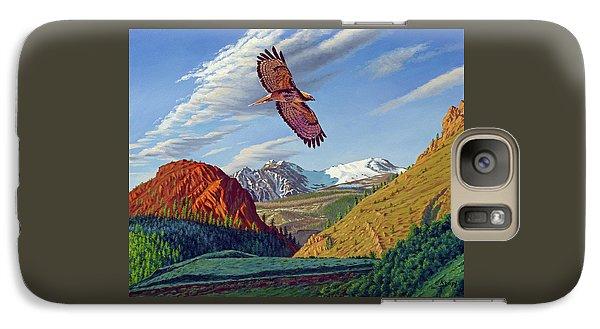 Hawk Galaxy S7 Case - Electric Peak With Hawk by Paul Krapf