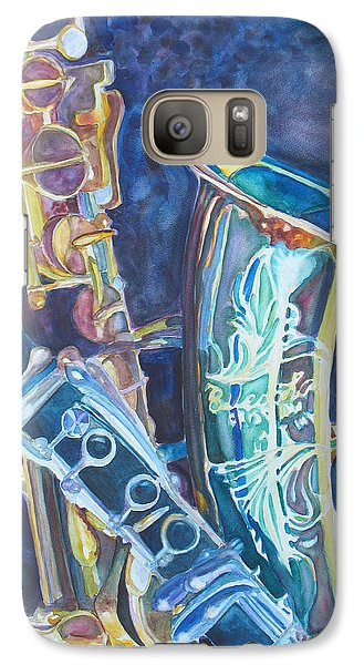 Saxophone Galaxy S7 Case - Electric Reeds by Jenny Armitage